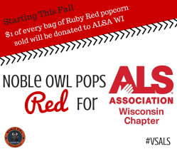 Noble Owl Pops Red For ALS Association's Wisconsin Chapter